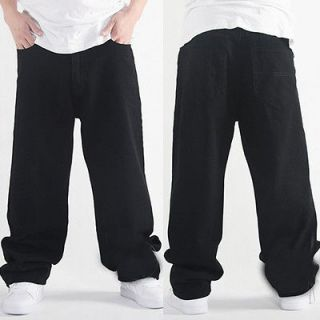 Cool Mens Hip Hop Skateboard Baggy Dance Pants Casual Jeans Trousers