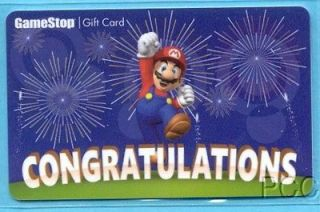 GAMESTOP Congratulation s / Mario 2012 Gift Card