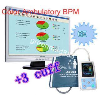 Color Big LCD Ambulatory Blood Pressure Monitor+3 cuff