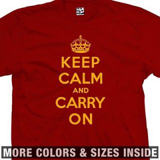 Keep Calm and Carry On T Shirt   KCACO KCCO UK Poster Meme   All Sizes