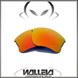 WL Polarized Fire Red Replacement Lenses For Oakley Flak Jacket XLJ