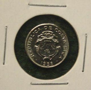 1958 COSTA RICA   5   CENTIMOS COIN   HIGH GRADE