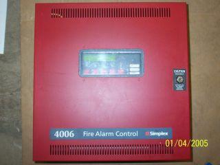 Simplex 4006 9101 Fire Alarm Control Panel