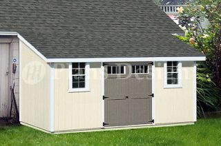 16 Outdoor Structure Building / Storage Shed Plans, Lean To #D1016L