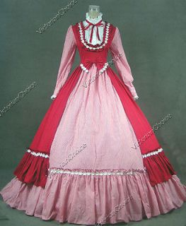 Victorian Gothic Lolita Dress Ball Gown Prom Reenactment Clothing D190