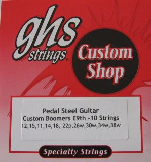 GHS Custom E9th Boomers Pedal Steel Guitar Strings   2 Sets