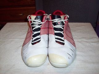MENS CONVERSE DWAYNE WADE RED,BLACK & WHITE HIGH TOPS SZE 14 SNEAKERS