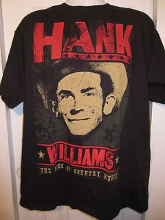 TOPIC HANK WILLIAMS The King Of Country Music T Shirt Size Small