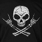 Rock Skull Cool Halloween Skeleton Rock Cool Funny Nerd Tee Shirt T