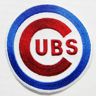 LOT OF MLB BASEBALL CHICAGO CUBS (3 1/2 ROUND) EMBROIDERED PATCH