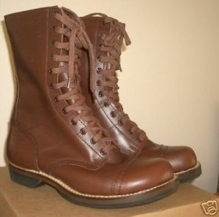 US Army WW2 PARATROOPER Leather BOOTS (UK Size 12)   Para Airborne