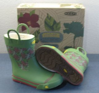 KEEN YOUTH CORONADO RAIN BOOTS 9645 ENGLISH IVY size 4