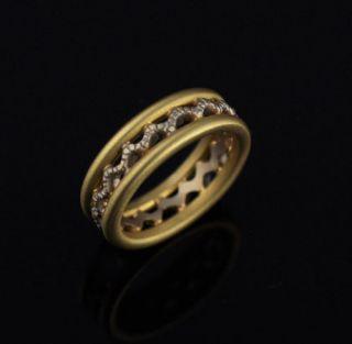 Doris Panos Mens Mens 18k Gold Band Ring 10