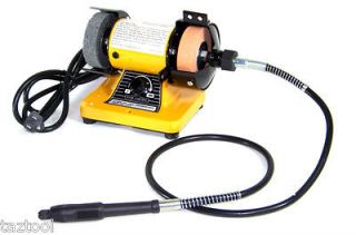 Mini Bench Grinder W/ Rotary Flexible Shaft Die Carving