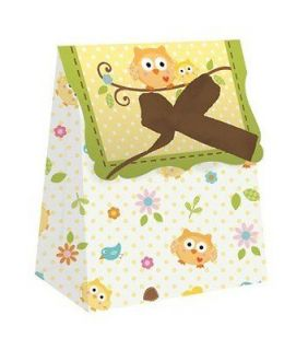 Owl Baby Shower Boy Girl Party Supplies Favor Gift Treat Bags 12 pack