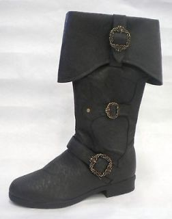 Captain Medieval King Renaissance Fair Mens Costume Boots 8 9 10