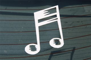 MUSIC NOTE Decal   Piano Guitar Auto Car Truck Vinyl Window Sticker