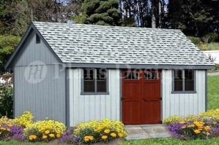 Shed Plans 16 x 20 Reverse Gable Roof Style #D1620G, Material List