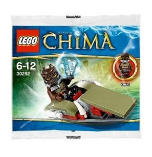 Rare, Exclusive LEGO LEGEND CHIMA 30252 Crugs Swamp Jet polybag set