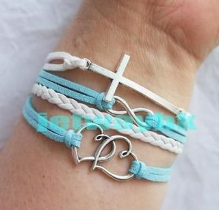 cross bracelet leather