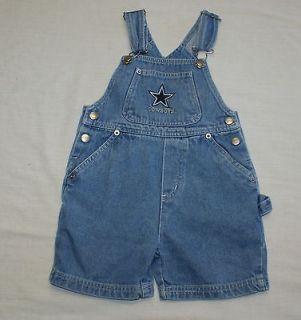 NFL Dallas Cowboys Toddler Children Jean Denim Short Star Overalls