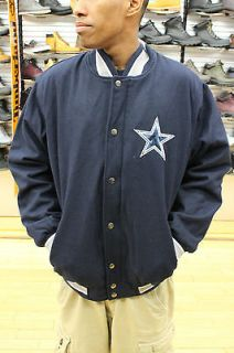 Dallas Cowboys NFL Wool Team Color Navy Blue White Mens Size Varsity