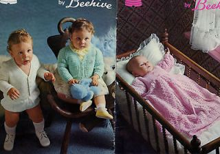 Knitting Crochet Pattern Baby Fashions Christening Dress Jacket