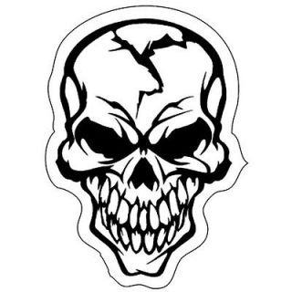 Skull Bones Demon Crack Smile Devil Evil Terror Printed Vinyl Sticker