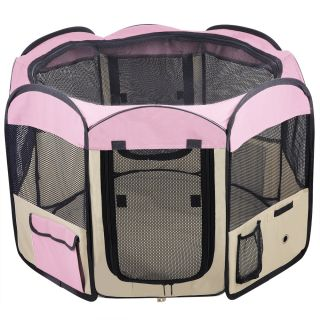 Medium 2 Door Pet Playpen Exercise Kennel Soft Tent Puppy Dog Crate