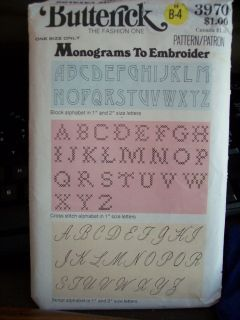 3970 Monograms to Embroider Pattern cross stitch alphabet letters
