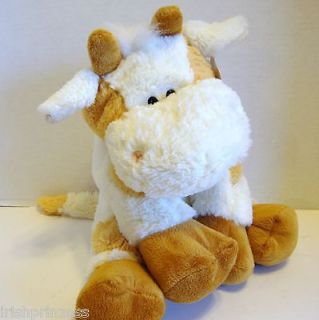 Super cute and Soft Stuffed Plush Brown Cow (Claw Machine Win Stuff)