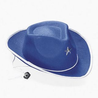 BLUE COWBOY HATS HORSE PONY WESTERN PARTY DECOR NEW GREAT GIFTS FOR