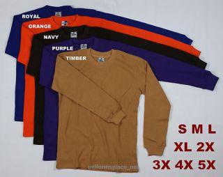 New Mens Thermal Shirts Long Sleeve Tee Color Big Size