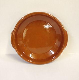 New 11 Brown Cazuela Bowl #3 Spanish ceramic terra cotta by HPPadilla