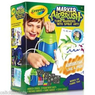 New Crayola Marker Airbrush Set HOT TOY 2012 GREAT XMAS GIFT