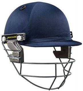 2013 Masuri Club Steel Grill Mens Navy Cricket Helmet
