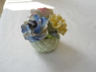 VTG Radnor Fine Bone China Floral Bouquet FIGURINE Yellow & Pink Rose