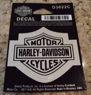 DAVIDSON BAR & SHIELD LOGO 2 1/2 x 2 CHROME DECAL STICKER 2011