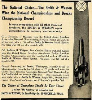 Smith Wesson Pistol Gun Firearm Crossman Whigam   ORIGINAL ADVERTISING