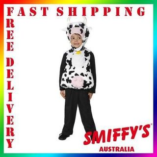 Kids Moo Cow Tabard Farm Animal Smiffys Fancy Dress Costume