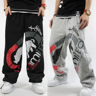 Hip Hop Rhino Ecko Loose Dance Casual Comfortable Cotton Pants C#A2