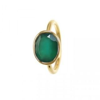 Emerald rings   Oval Gold rings   Stackable Bezel Gemstone rings
