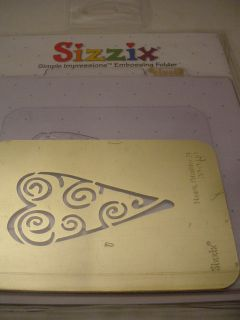 Heart Primitive Embossing Folder Stencil For Cuttlebug,Sizzix,Vagabond