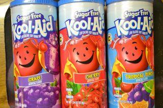 Sugar Free Kool Aid 6pk* Cherry, Grape or Tropical Punch