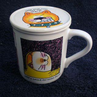 KENT POTTERY Teddy Bear Covered Mug Tea Coffee Cup With Lid NWOT