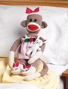Rosebud Sock Monkey Companions Kit 21 Long