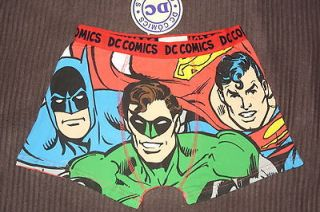BNWT DC COMICS MENS BATMAN,GREEN LANTERN,SUPERM AN CHARACTER BOXER