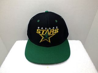 Dallas Stars Hockey Retro Vintage Snapback Hat Cap NEW By Reebok