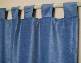 Light Blue Velvet Curtains / Drapes / Panels with Tab T