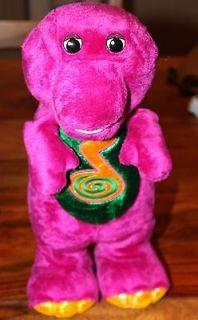 Barney Purple 14 Dino Dance Dinosaur Sings Dances, Fisher Price, used
